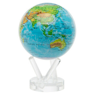 NEW Mova Medium Blue Relief Spinning Globe