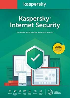Kaspersky Internet security 2019 2020 1 PC Device 1 Anno Originale - Fatturabile