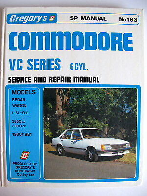 Gregorys service and repair manual - Holden Commodore VC 6cyl - 1980 to 1981