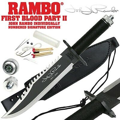 John Rambo 2 Jagdmesser Outdoormesser Survival First Blood II .,., Rambo II