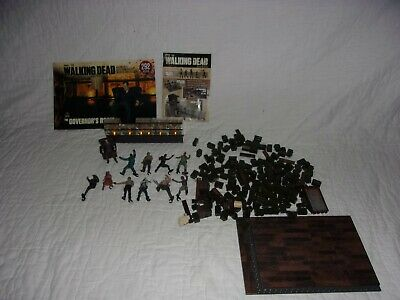THE WALKING DEAD Building Set- THE GOVERNORS ROOM w Instructions & Extra Figures