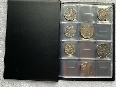 UkCoinHunt COIN ALBUM for 96 coins perfect for 50p and £1 ‎€1 €2 BOOK