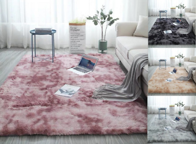 Fluffy Rugs Tie-Dyed Carpet Living Room Bedroom Area Rugs Soft Large Rug Decor&*
