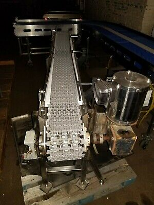 "Stainless Steel 7"" x 76"" washdown Conveyor With Plastic Belt"