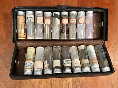 Antique Traveling Doctor's Kit Quack Medicine W/ Contents, Apothecary, Pharmacy