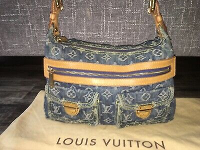 Gorgeous Authentic Louis Vuitton Denim Neo Speedy Shoulder Bag w/Dustbag
