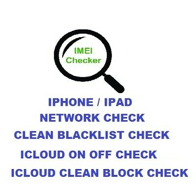 INSTANT FAST iPhone 11 PRO XS MAX XR IMEI NETWORK CARRIER ICLOUD CHECK SERVICE