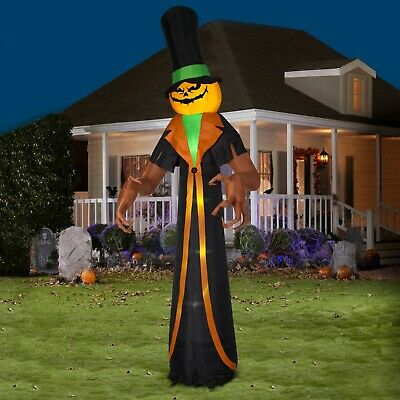 Giant Huge Yard Inflatable Pumpkin Monster 12 ft Outdoor Halloween Decoration