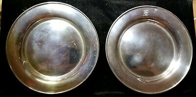 2 - Alvin Sterling Silver .925 bread & butter Plate Tableware 6 inches #G11 pair