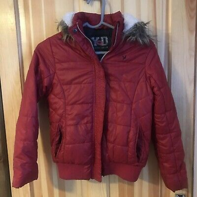 Girls Red Padded Coat With Good - Age 11-12