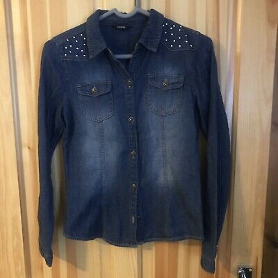 Girls George Asda Denim Style Shirt With Studs Age 12-13