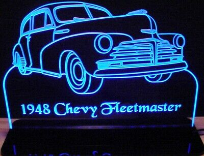 """1954 F100 Pickup Truck Edge Lit 12/"""" Lighted Sign LED Plaque 54 Mirr Made in USA"""
