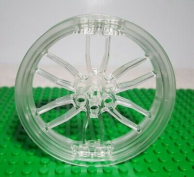 LEGO Technic Roue Wheel 75mm D x 17mm Motorcycle trans clear 88517