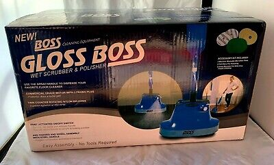 Gloss Boss  Wet Floor Scrubber and Polisher -Easy Assembly - No tools Required