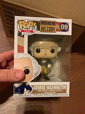 Funko Pop American History 09 George Washington Collectible Mint Authentic