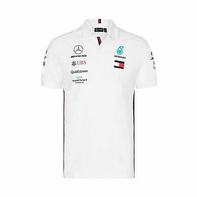 2019 Mercedes AMG Motorsport F1 Team Mens Polo Shirt White - XS