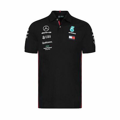 2019 Mercedes AMG Motorsport F1 Team Mens Polo Shirt Black - XXL