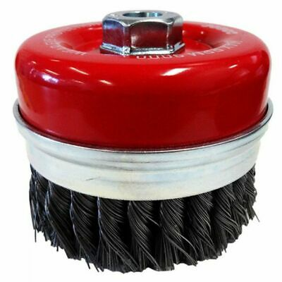 Josco M14-THREAD XHD-STEEL TWIST KNOT WIRE CUP BRUSH With Skirt- 100mm Or 125mm