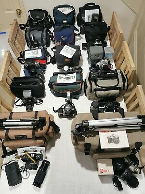 Camera Collection, Lenses, Tripods, Filters And Accessories