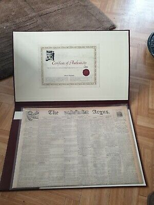 Authentic newspaper with  certificate:  21 september 1931- the argus (Melbourne)