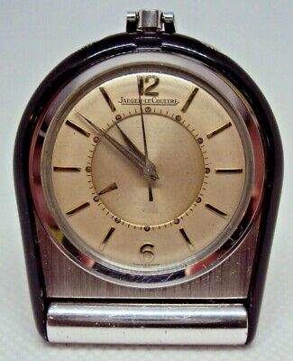 Vintage Travel Alarm Clock Jaeger Lecoultre Memovox Cal.814 17J Swiss Made 1960