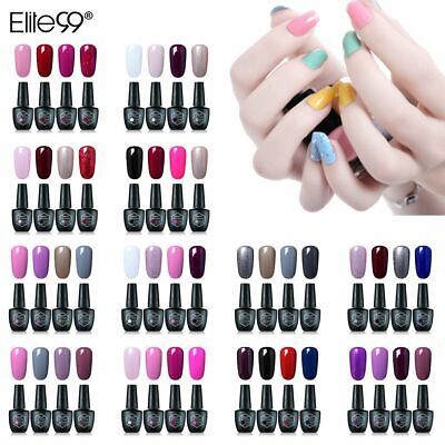 Esmalte Semipermanente de Uñas en Gel UV LED 4pcs Kit Soak off 10ml de Elite99