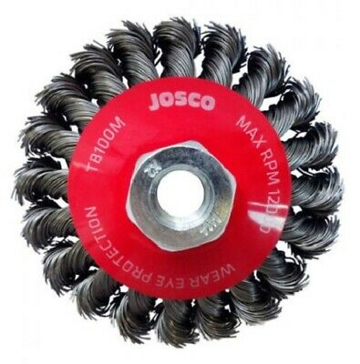 Josco MULTI-THREAD HD-STEEL TWIST KNOT WIRE BEVEL BRUSH- 100mm Or 115mm