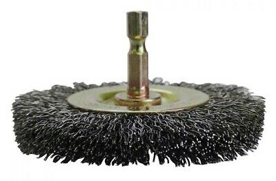 2x Josco  1/4-HEX MOUNTED CRIMPED WHEEL BRUSHES *Aust Brand- 75mm Or 100mm