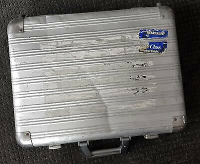 Vintage 80's well travelled strong metal attache case spy-style