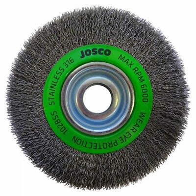 Josco MULTI-BORE STAINLESS STEEL CRIMPED WIRE WHEEL BRUSH- 150x19mm Or 200x19mm