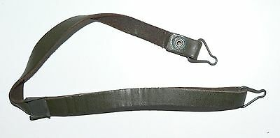 C 1 (One) x Chinstrap for M1 type helmet liner- Green leather - New Old Stock