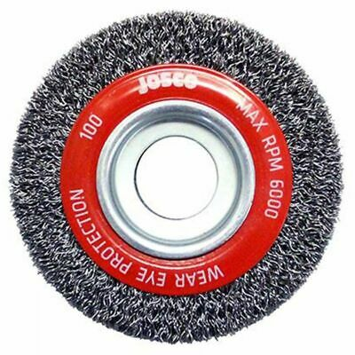 Josco MULTI-BORE HD-STEEL CRIMPED WIRE WHEEL BRUSH-100x25mm,150x22mm Or 150x25mm