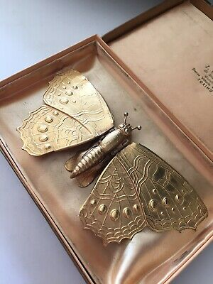 ANTIQUE c1872 W.AVERY & SON REDDITCH BUTTERFLY SEWING NEEDLE CASE Farfalla