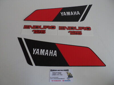 125 Dtmx Yamaha Annee  1978   Emblemes Compatible  Reservoir+Caches Lateraux