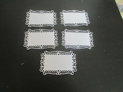 Die Cuts Card Toppers    5 Cream  Oblong Cardstock