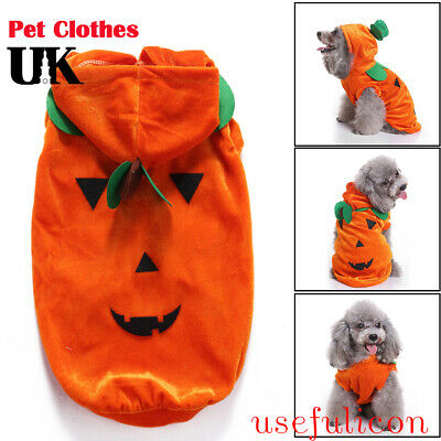Pet Halloween Party Clothes Costume Fashion Draping Pumpkin Pattern For Dog Cat