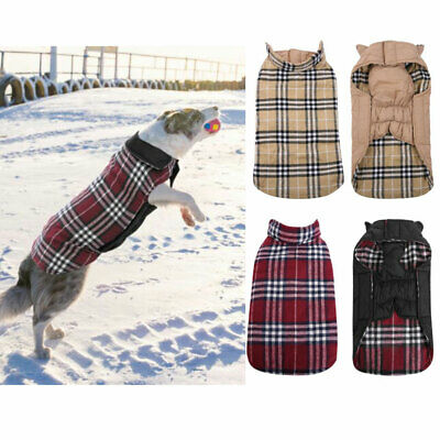 Pet Vest Jacket Warm Waterproof Dog Clothes Small/Large Winter Padded Coats New
