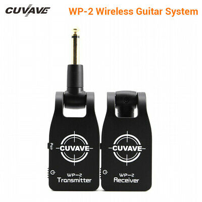 Cuvave 2.4G Wireless Guitar System with Transmitter + Receiver USB Rechargeable