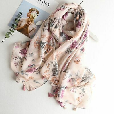 Summer Sheer Scarf Cover Up Bandana Beach Party Casual Gift Shawls Floral Design