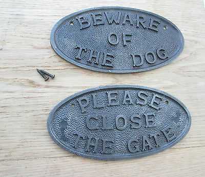 Cast Iron Traditional Style Sign Wall Plaque Plate Fence Post Garden