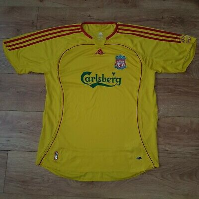 Liverpool FC Vintage Jersey Shirt 2006/2007 Adidas Away Yellow Mens Size XL