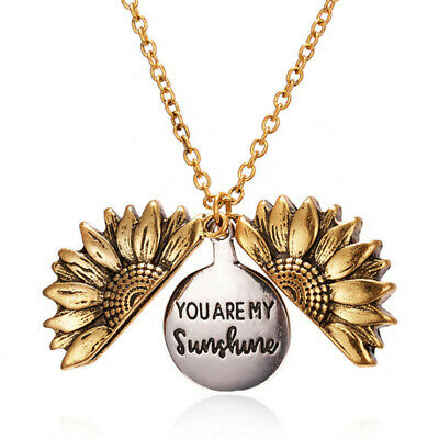 'You are my sunshine' Fashion Sunflower Bohemian Chain Pendant Necklace Jewelry