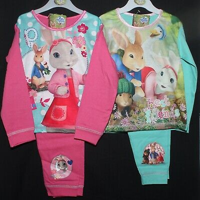 Girls PETER RABBIT Pyjamas Long-Sleeved PJs in 2 style choices 18 Months-5 years