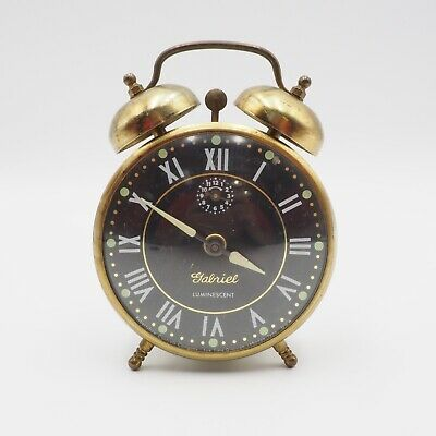Vintage Robertshaw Controls Lux Wind Up Alarm Clock As Is For Parts Or Decor Use