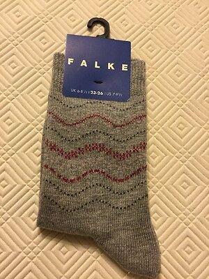 Girls Falke 6 - 8 1/2 (EU 23 -26) Seasonal Grey Sparkle Trainer Socks RRP £5