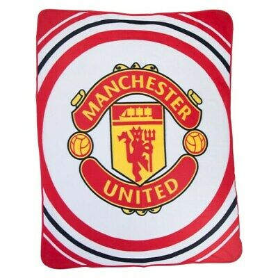 MANCHESTER UNITED FLEECE BLANKET OFFICIALLY LICENSED FREE SHIPPING 60' x 50'