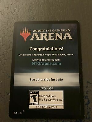 MTG arena 6 booster packs of Throne of Eldraine Pre release code