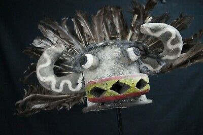 96# From Early To Mid 20th Century Kachina Leather Mask/HELMET  - Hopi