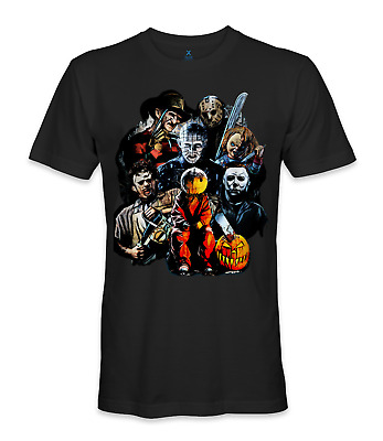 Halloween evil michael myers, jason, freddy, chucky t-shirt