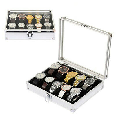 6/12 Grids Slot Watch Display Storage Box Jewelry Collection Case Organiser Hold